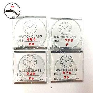 Оптовая продажа, 106 шт., минеральное стекло для часов толщиной 2,0 мм, набор из плоского круглого стекла для часов 25-50 мм, Сменное стекло для час...