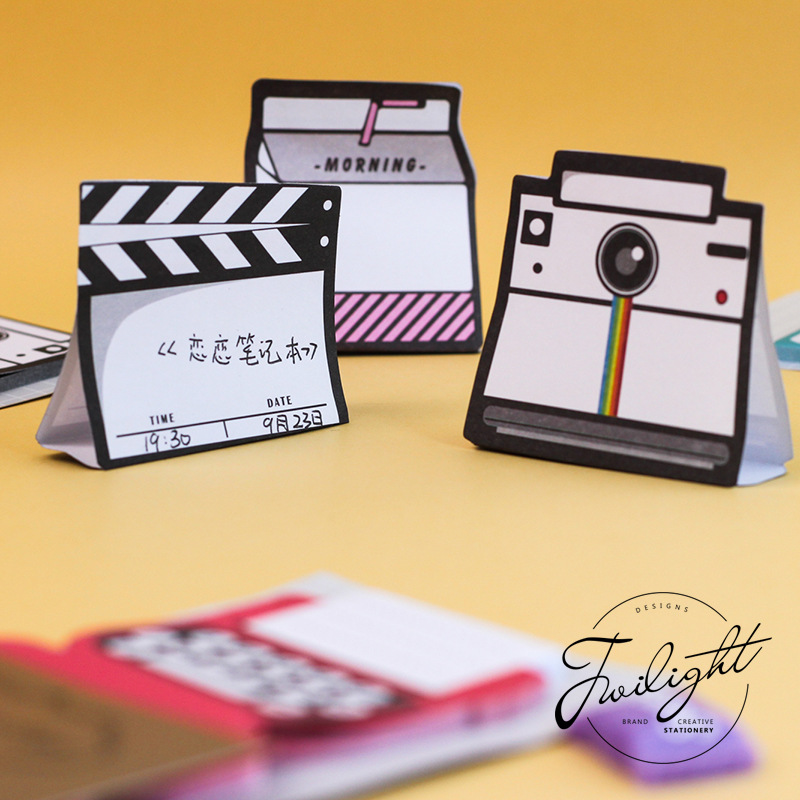 1 Sets Memo Pads Sticky Notes Kawaii Semi-stereo Paper Notepad Daliy Scrapbooking Stickers Office School Stationery Bookmark