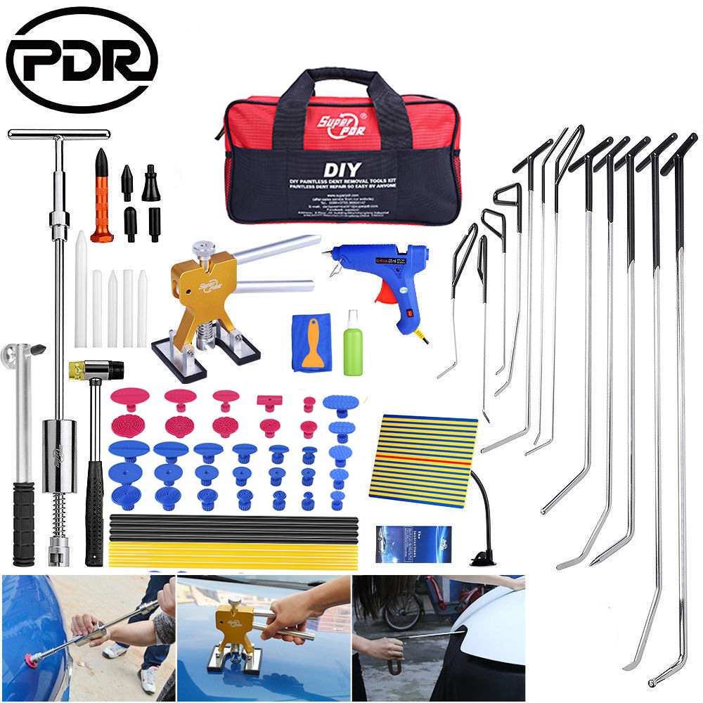 PDR Tools To Remove Dents Hooks Push Rod Repair Kit Dents Removal Car Repair Tools Auto Tool Set Door Dent Hail Removal car dents repair removal garage tools induction heating auto bodywork dent and ding repair remove diy kit straightening dents