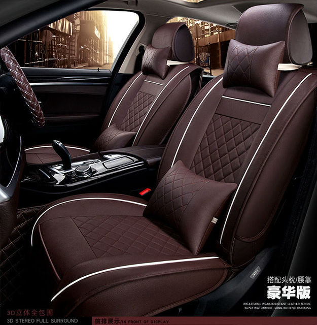 automotive seat covers pu cushion pad universal car interior accessories for cadillac cts ct6. Black Bedroom Furniture Sets. Home Design Ideas