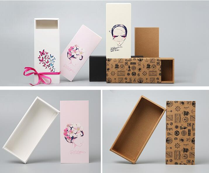 New design Large size Drawer Kraft wig Packaging Paper Box,kraft drawer gift box,cosmetic perfume bottle packaging box beautiful