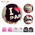 2 PCS Fashion Spring Autumn Baby Knitted Warm Cotton Toddler Kids Beanie Hat Baby Girl Boy I LOVE PAPA MAMA Print Baby Hats Caps