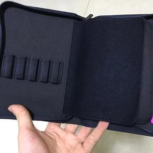 Image 4 - Kaco caneta bolsa caneta caso saco cor preta estilo de negócios 10 bolsos caneta para penbbs hongdian moonman elike escritório escola suprimentos