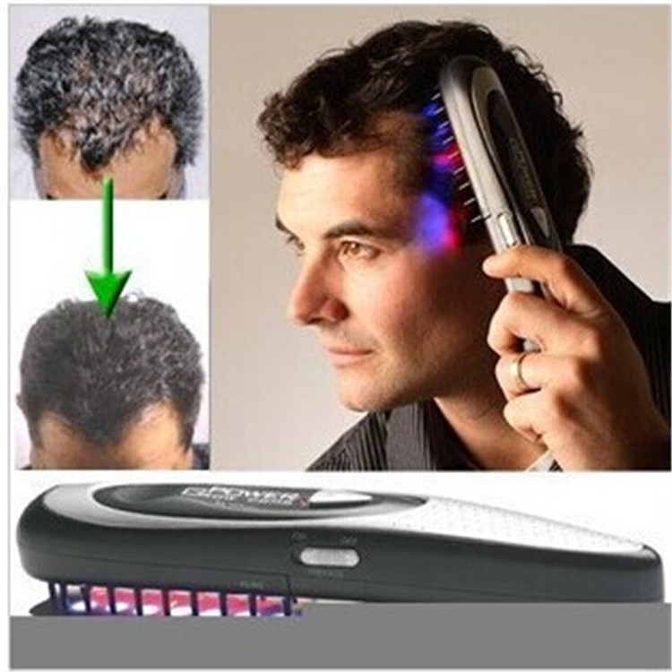 Laser hair comb The head massager scalp massager black hair comb hair care massage comb comb kit power grow laser cure loss therapy laser hair comb massager comb brush drop shipping
