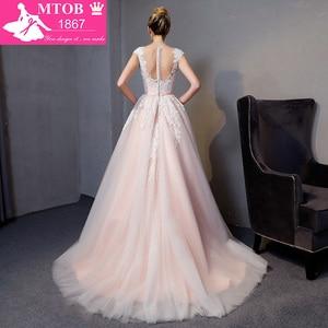 Image 2 - Gorgeous A line Lace Wedding Dresses Elegant Beads Pearls Sexy Backless dresses Luxury Bride Gown vestido de noiva MTOB1812