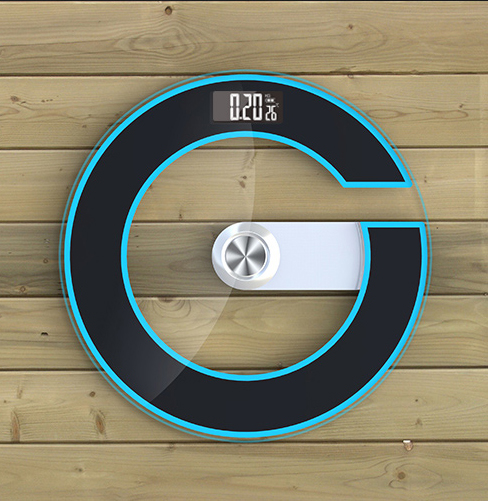New 2018 Large Size Bathroom Scale Tempered Glass Electronic Floor Scales Round Black Green Temperature Power Display LED Night in Bathroom Scales from Home Garden