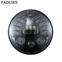 FADUIES 7 дюймовый Адаптивная круглый мотоцикла светодиодный проектор Daymaker фар высокого ближнего света для Harley BMW R NineT R9T светодиодный фар