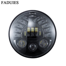 Newest 7inch Round Motorcycle Led Projector Daymaker Headlight High Low Beam For Harley BMW R NineT R9T LED Headlight