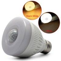 Bombilla de sensor acrílico E27 5 W, sensor de movimiento por infrarrojos PIR, detección de luz LED para lámpara, pasillo, garaje, Baño