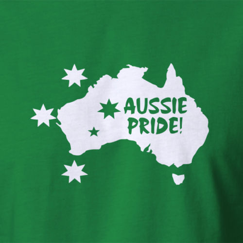 New Aussie Pride T-shirt map outline with southern cross Australia day costume