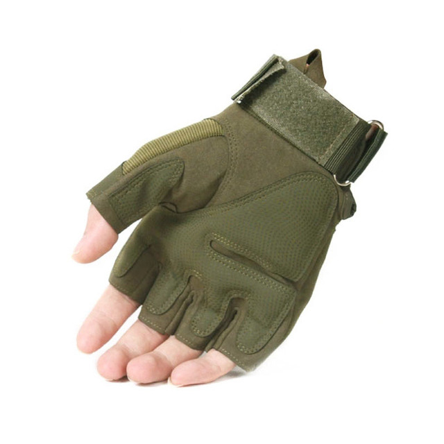 Tactical Fingerless Gloves Military Army Shooting Paintball Airsoft Bicycle Motorcross Combat Hard Knuckle Half Finger Gloves 1