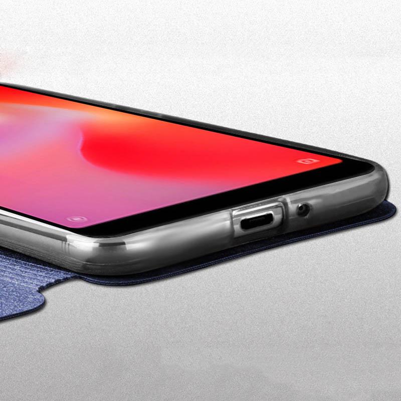 Image 4 - case for Xiaomi redmi 6 Redmi 6A Cover Leather Flip Case slim book mofi phone protect cover stand luxury glitter Redmi6 6a Case