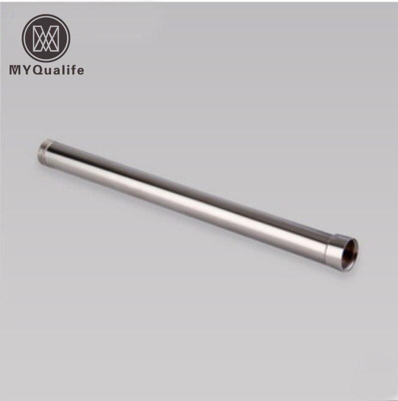 12 solide Messing Runde Bad Dusche Wasserhahn Extension Tube Bar Chrom Nickel Goldene Schwarz Wasserhahn Verlängerung Rohr Heimwerker