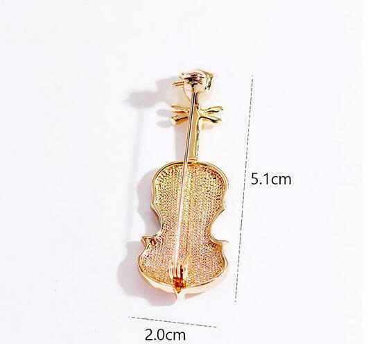d2b1950bf21 ... Violin Vintage Brooches Wedding Bouquet Flowers Silver Brooch Pins For  Women Cheap Fashion Jewelry Clothes Accessoris