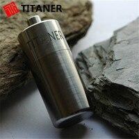 2014 New Arrival Creative Ultralight Titanium Product Waterproof Battery Case Sealed Drug Case Travel Medicine Case