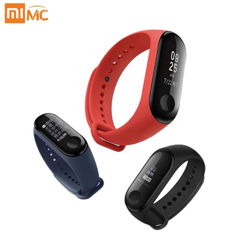 Оригинальный Xiaomi mi Band 3 Smart mi band 3 Браслет Пульс фитнес спорт 0,78 дюймов OLED дисплей 20 дней в режиме ожидания 2 обновления
