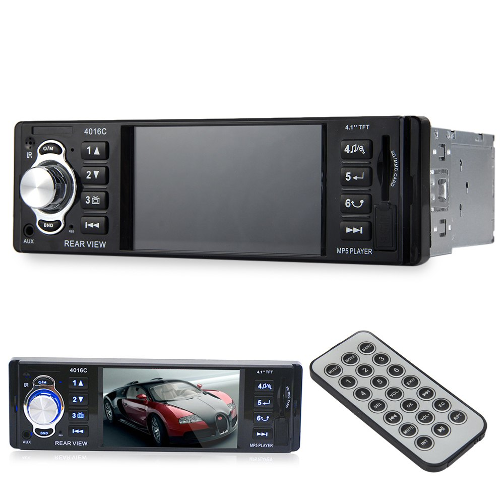 4.1 дюймов один DIN TFT HD цифровой автомобильный mp5 плеер Высокое разрешение видео игры FM Радио с USB SD AUX интерфейсы