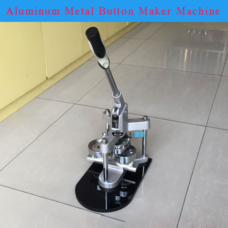 Free ship New Tripod  Aluminum Badge/Button Maker Machine With Metal Slide Rails High Quality and Wholesale Price high quality lowest price wholesale kz 19 pneumatic combination steel metal strapping packing machine for 19mm steel strap tape