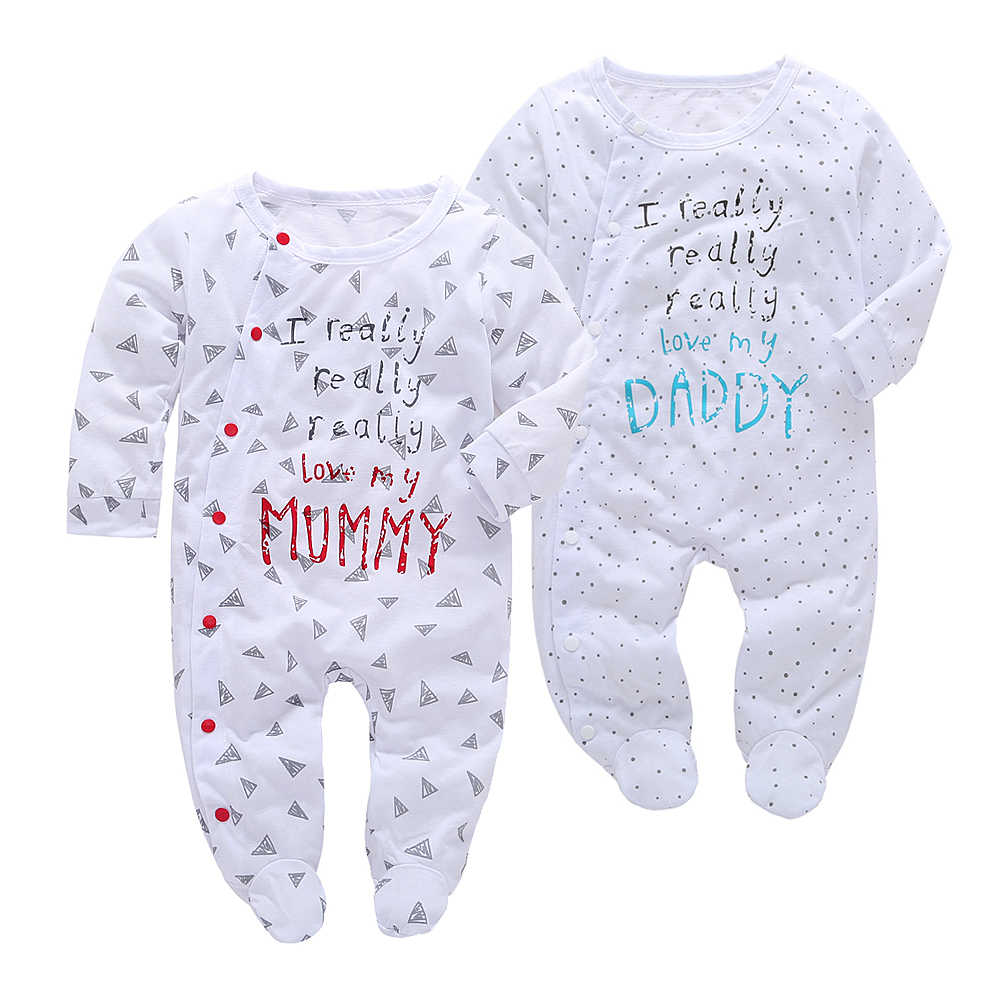 958646ab2 2019 Baby Clothes Pajamas Newborn Baby Rompers Cotton Infant Long Sleeve  Jumpsuits Boy Girl Autumn spring Baby clothing set