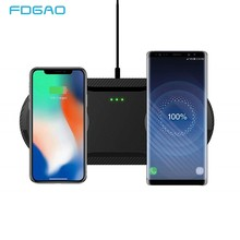 20W Fast Wireless Charging Dock Station For Samsung S10 S9 10W Dual Qi Wireless Charger Pad for Apple Airpods iPhone X XS XR 8(China)