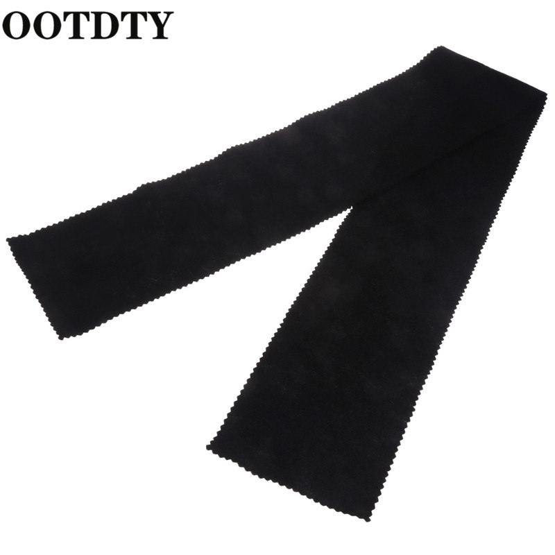 OOTDTY 88 Keys Black Soft Piano Key Cover Keyboard Dust Proof Moisture Flannel Cloth Piano Accessories