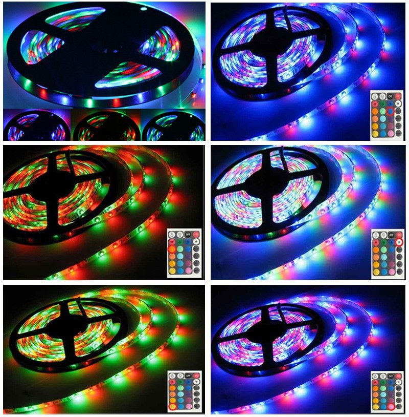 LED Strip 5050 fiexible light+24 keys controller+12V power adpater 60Ledm 5mlot White Warm white Red Green Blue Yellow RGB (14)