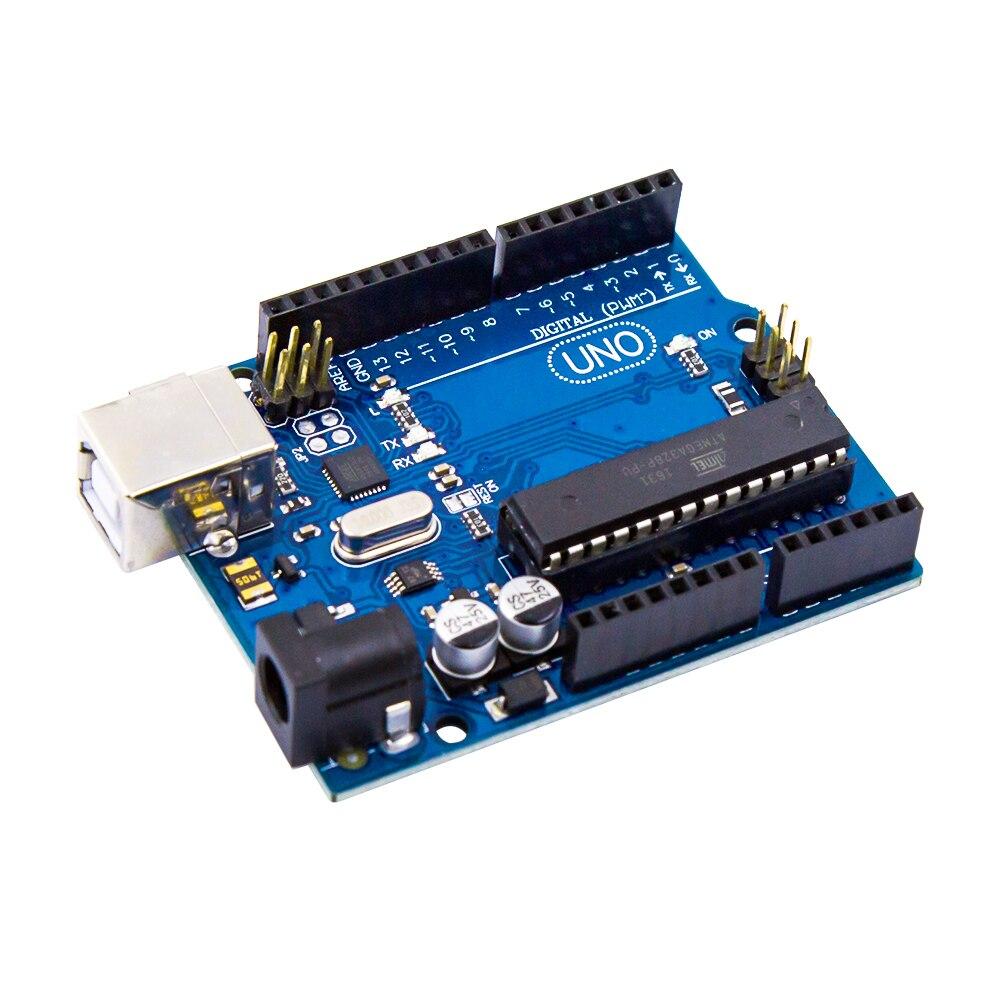 Uno R3 electrónica Compatible ATmega328P microcontrolador tarjeta para Arduino robótica y proyectos de bricolaje
