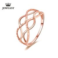 2017 New 18K Rose Gold Ring Fashion Hollow Design Gold Ring For Women Wedding Ring Engagement