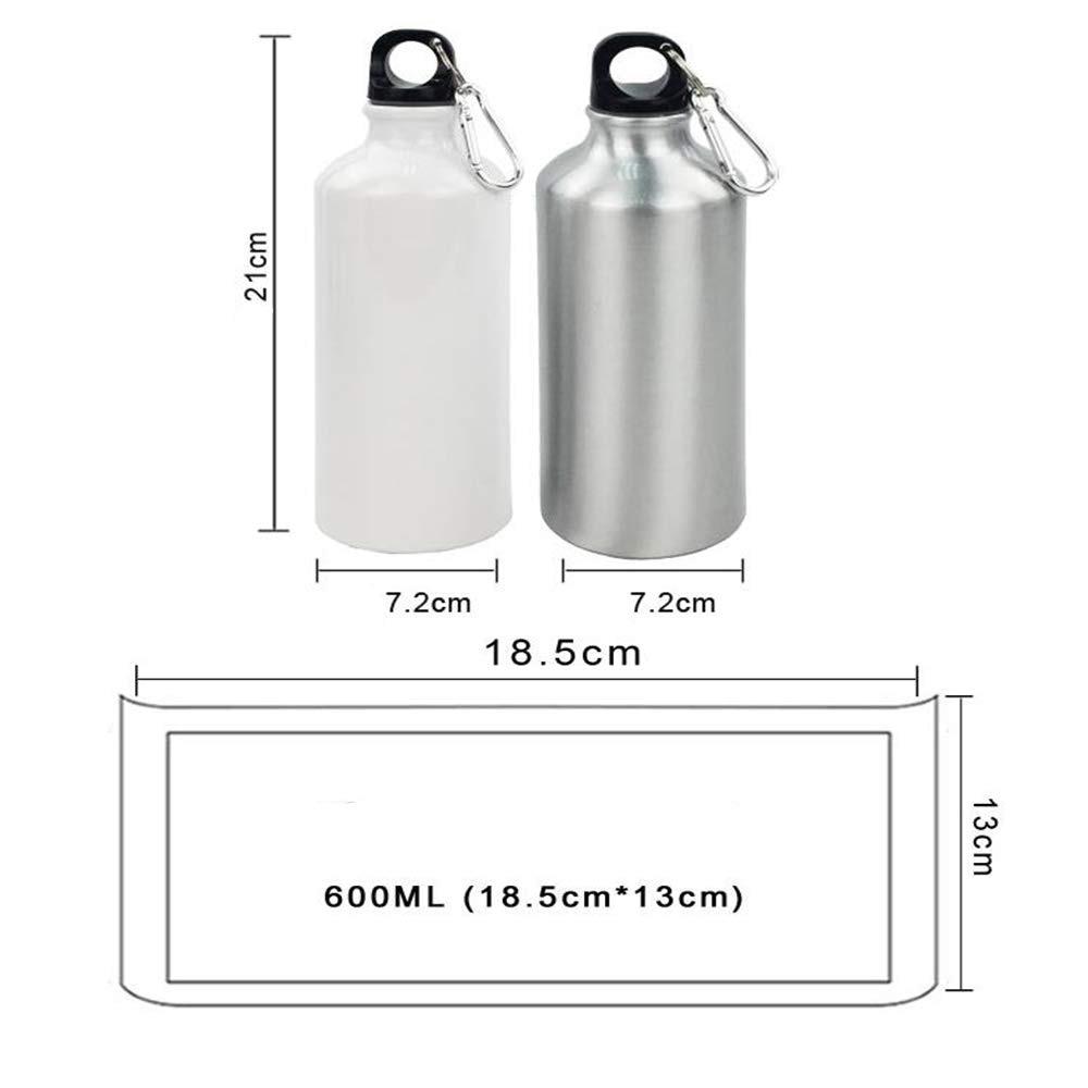 RETERMIT 15 pcs Blank Sublimation Aluminium Water Bottle Sublimation Transfer Sublimation Blanks DIY Gift