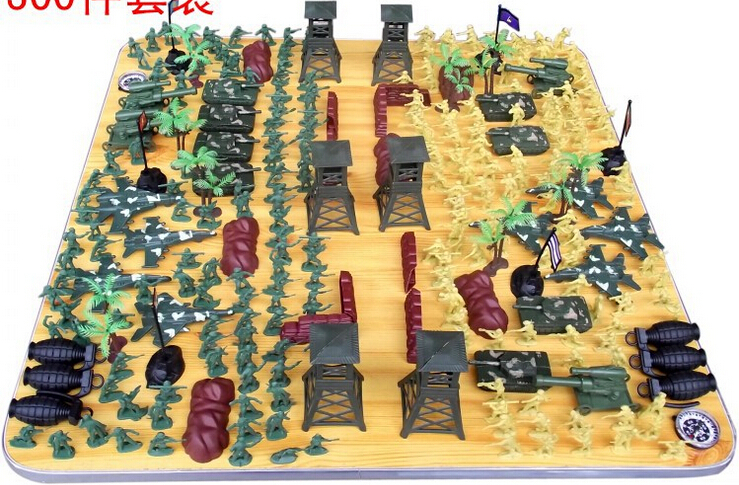 Straightforward 300pcs/set Wwii Soldier Action Figures Toysmilitary Model Action Figures Army Kit Sand Table Model For Kid Children Action & Toy Figures
