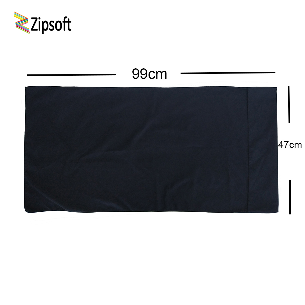 Zipsoft Black Beach Towel Microfiber 99*47cm Football Basketball Swimming Pool Camping for the Bath Compressed Towel Swimwear