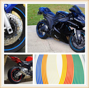 Strips Motorcycle Wheel Sticker Reflective Decals Rim Tape Bike Car Styling For Ducati S4 S4R YAMAHA TTR600 XT250X TRICKER image