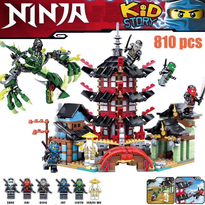 Model Building Dependable Kazi Ninja Temple Boat Dragon 737+pcs Diy Building Block Sets Educational Toys For Children Compatible Legoingly Ninjagoes Movie To Produce An Effect Toward Clear Vision