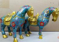 100% выплавляемым ремесла античная латунь статуя боевой конь Скульптура для рождественские подарки украшения офиса