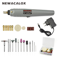 NEWACALOX EU Plug Wireless Rechargeable Mini Electric Drill Grinder Set 25pcs Polishing Engraving Accessories Power Tool