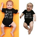 Newborn Infant Baby Cotton Bodysuit Short Sleeve MOM DAD Letters Europe Style Baby Jumpsuit Overalls For Boys Girls Costume Y2