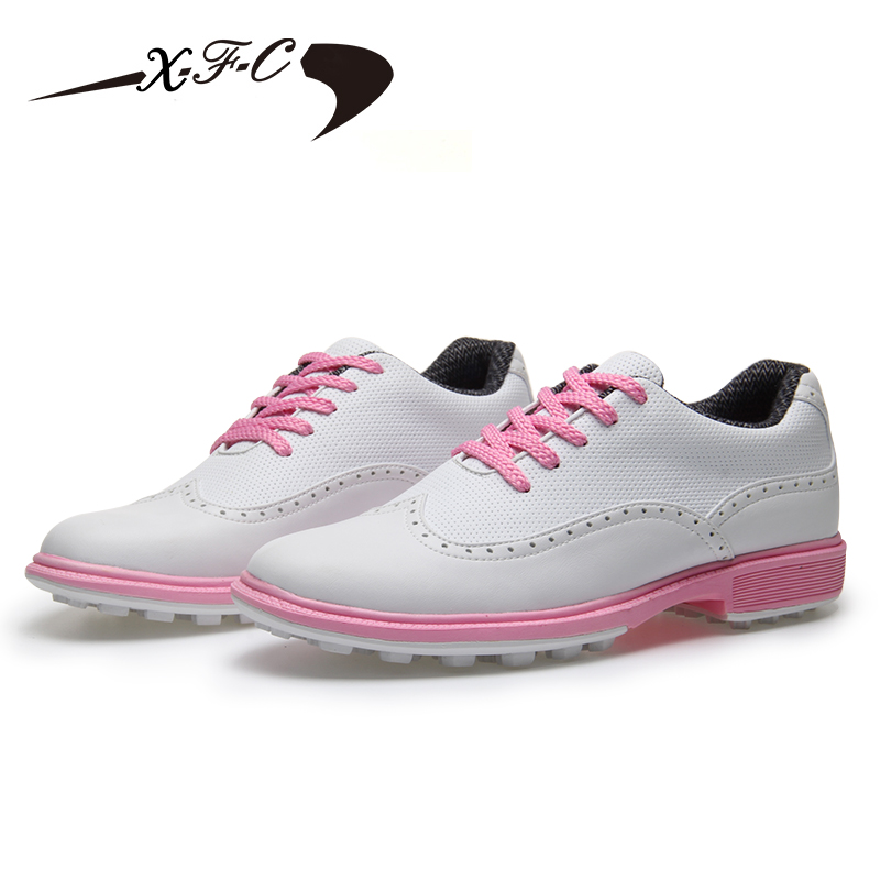 2018 new style fixed nail golf shoes womens sports shoes lightweight breathable waterproof golf shoes high quality