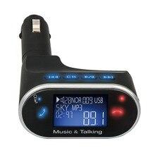 Бесплатная Доставка НОВЫЙ LCD Bluetooth Car Kit Mp3-плеер Fm-передатчик SD USB Зарядное Устройство Громкой Связи С Дистанционным 630C