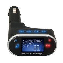 Caliente-venta LCD Bluetooth Car Kit Reproductor de MP3 FM Transmisor SD USB Cargador Manos Libres Sin Remoto 630C
