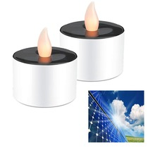Solar Led Candle Lamp Flameless Tea Light Candles Propose Party Wedding Safety Candles Festival Christmas Home Decor Nightlight