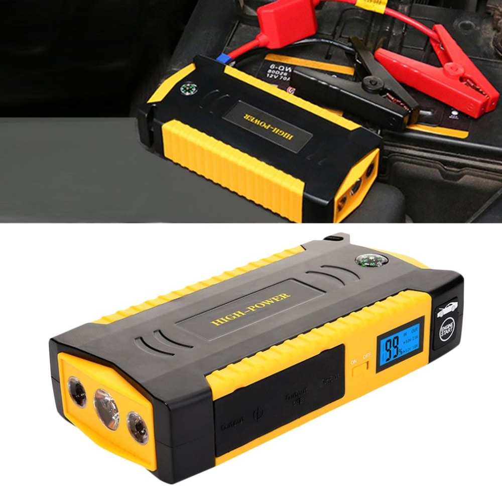 Multifunctional Jump Starter Car Battery Power Bank Emergency Auto Booster Pack Vehicle Jump Start 18000Mah Peak Current 2016 hot multifunctional cp18 68800ma car charger pack vehicle jump starter multi function auto start emergency power supply