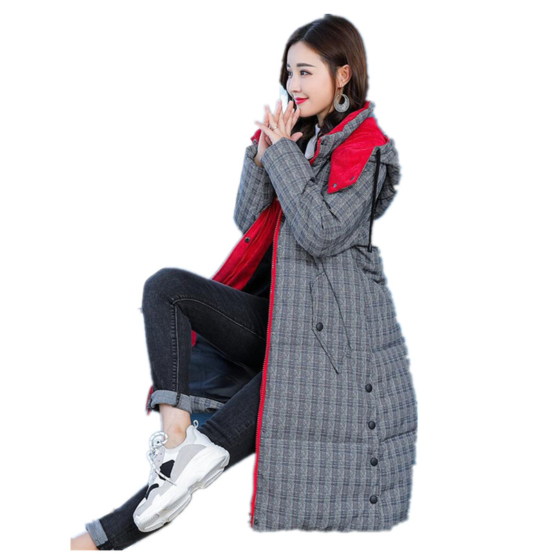 2018 Coat Jacket Women's Hooded Warm women   Parka   Coat Hight Quality Female Winter   parka   Collection Hot casacos de inverno G035