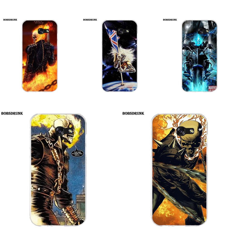 EJGROUP Soft Art Online Cover Case For Samsung Galaxy A3 A5 A7 J1 J2 J3 J5 J7 2015 2016 2017 Iron Man Skull Head