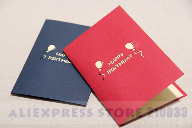 200pcs Birthday Greeting Cards For Lover Cmyk Printing Gold Foil Foldable Happy Card Custom Best Price