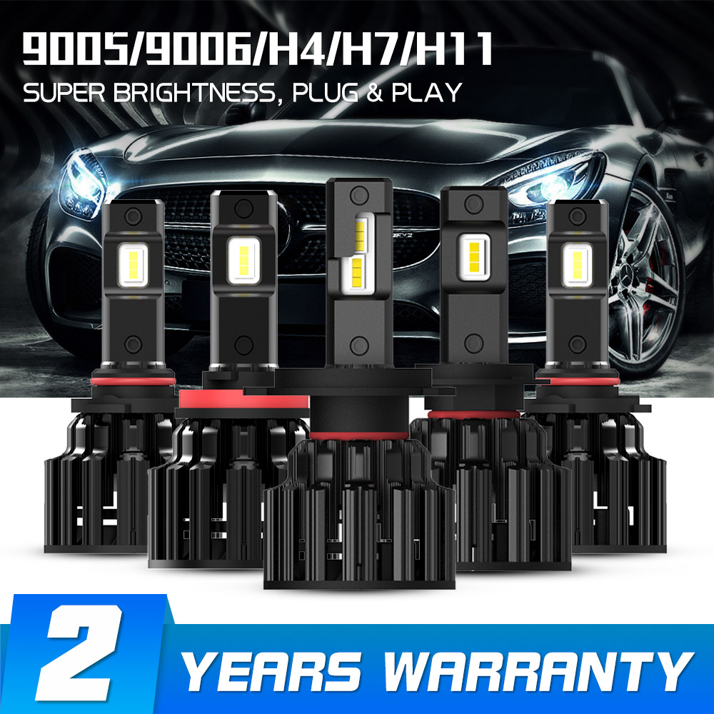NOVSIGHT H4 LED H7 H11 H8 HB4 HB3 Voiture Phares Ampoules 100 W 20000LM Voiture Style 6000 K LED automotivo