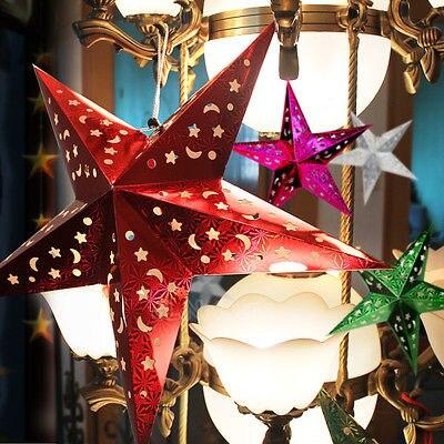 Star Light Hanging Star Xmas Tree Ornament Christmas Decro Stars Lantern