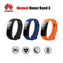 Оригинальный huawei честь группы 3 Smart Band в реальном времени мониторинга сердечного ритма 50 м Водонепроницаемый для плавания Фитнес трекер OLED