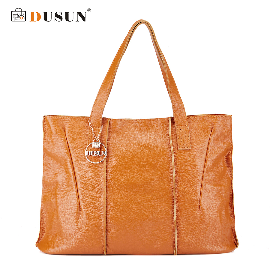 DUSUN New Women Handbags Genuine Leather Large capacity Fashion Women Bags High Quality Brand Design Casual Shoulder Bag HMJL001 2016 new genuine polo brand golf bag for men s clothing bag women pu bag large capacity high quality