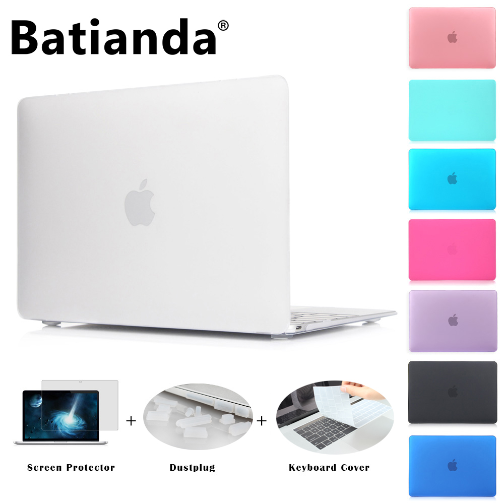 Case Matte New Air 11 13 13 15 Pro Tocco bar 2016 2017 Modello Nuovo Retina 12 13 15 ''per macbook Keyboard Cover + Screen Protector