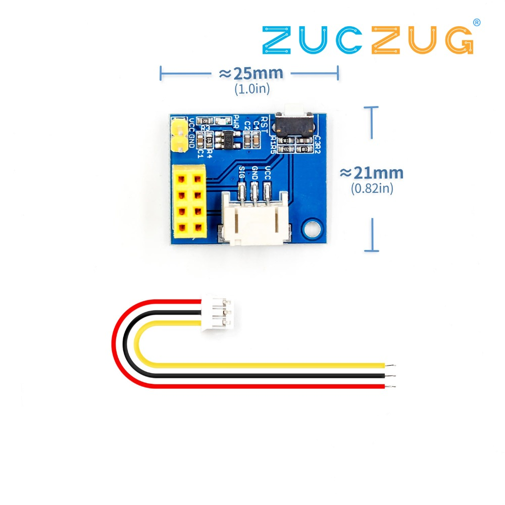 Integrated Circuits Esp8266 Esp01 Esp-01 Ws2812 Rgb Led Controller Module For Arduino Ide Ws2812 Light Ring Smart Electronic Diy With Connector Active Components